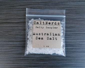 Australian Coarse Sea Salt • SaltNerds Salty Sampler • 1 oz • Foodie Gift • FREE SHIPPING!!