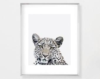 Leopard Print, Nursery Wall Art, Nursery Decor, Printable Download, Digital Poster, Safari Nursery, Safari Animals, Watercolor Print