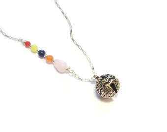 Jewelry pregnancy necklace harmony ball - 925 sterling silver and natural stones (2)