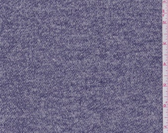 Heather Blue French Terry Knit, Fabric By The Yard