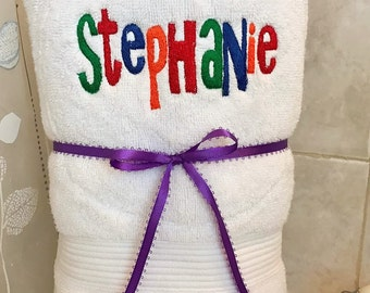 One A-Christy Font Embroidery Towel