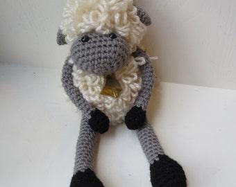 Crochet Sheep Toy, Handmade Crochet Stuffed Sheep Toy, Loopy Lamb Toy, Sheep Arigirumi, Lamb Arigurumi, In Stock and Ready to Ship
