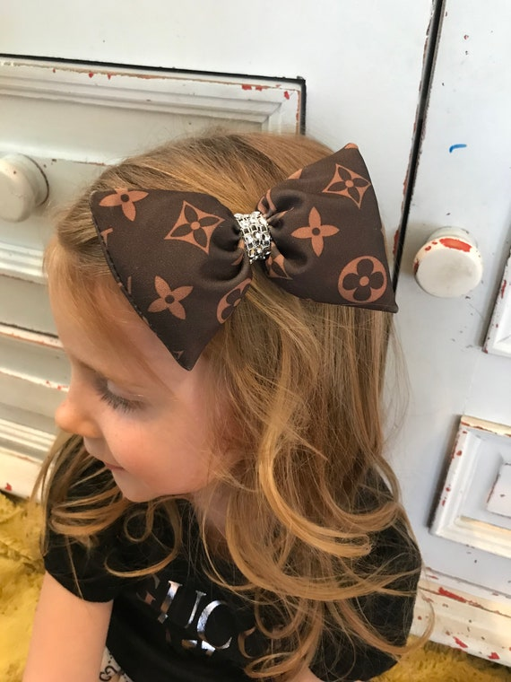 LV inspired hairbow
