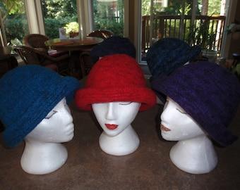 Waterproof Felted Hats - 100% Handmade from Natural Fibers (Alpaca, Wool, Silk)