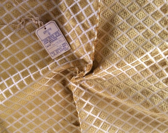 Vintage Upholstery Fabric - Gold Jacquard Fabric - Interior Design Fabric - Furniture Fabric