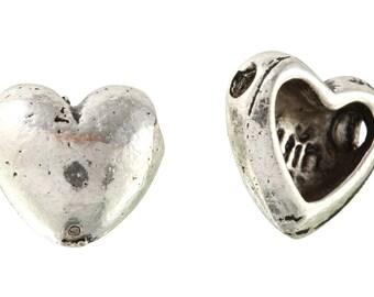 20 Pcs 9.6 mm Zinc Alloy Puffed Heart Shaped Beads (PUT4001111)