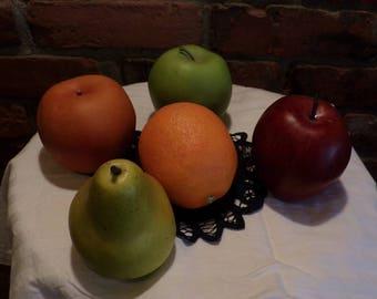 Vintage Faux Fruit, Fake Fruit, Fruit Décor, Kitchen décor, 5 pieces of fake fruit, Morethebuckles, fruit collection