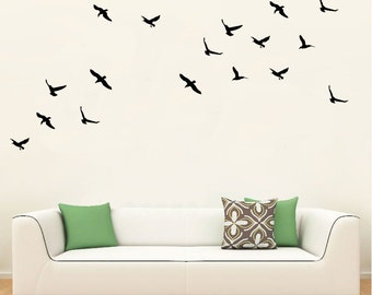 Wall Vinyl Decal Flying Birds