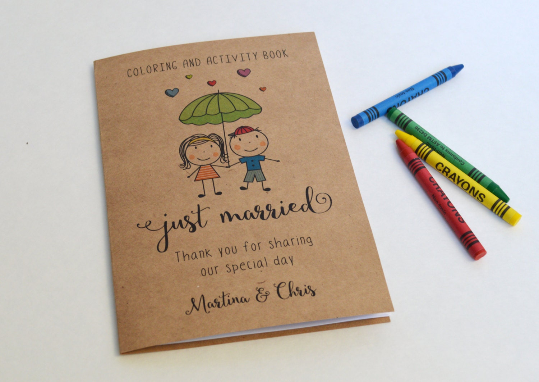 Wedding coloring book / Kids wedding activity book / Wedding