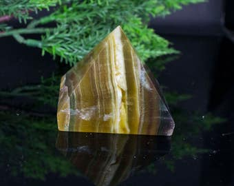 Natural Stone Fluorite Pyramid Shaped