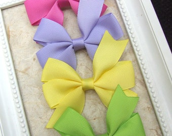 Classic Pinwheel Hair Bows, Hair Clips For Baby, BEST SELLER, Spring Tone Bow Clips, Toddler Girl, Girl Hair Clips, Teen Hair Clips