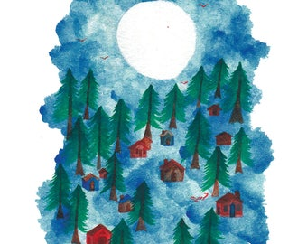 Merry Christmas and Happy New Year Card, 4.5 x 7