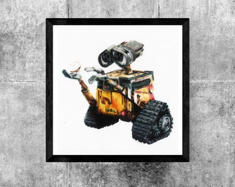 Wall-E  color pencil print