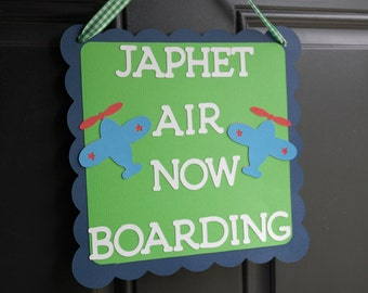 Airplane Door Sign, Airplane Welcome Sign, Airplane Birthday, Airplane Theme, Airplane 1st Birthday