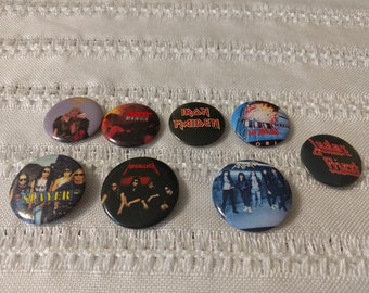 7 vintage rock and roll pins