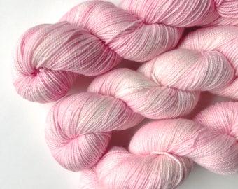 Hand Dyed Yarn. Cubetcha Shawl. Merino. Sock Weight. Gigi Bonin. Peony Moment