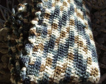 Blue variegated blanket
