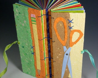 Scissors and Pencil Journal