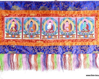 PANCHA Buddha HANGING Tibetan Buddhist Thangka tangka ref nap1 door door decoration