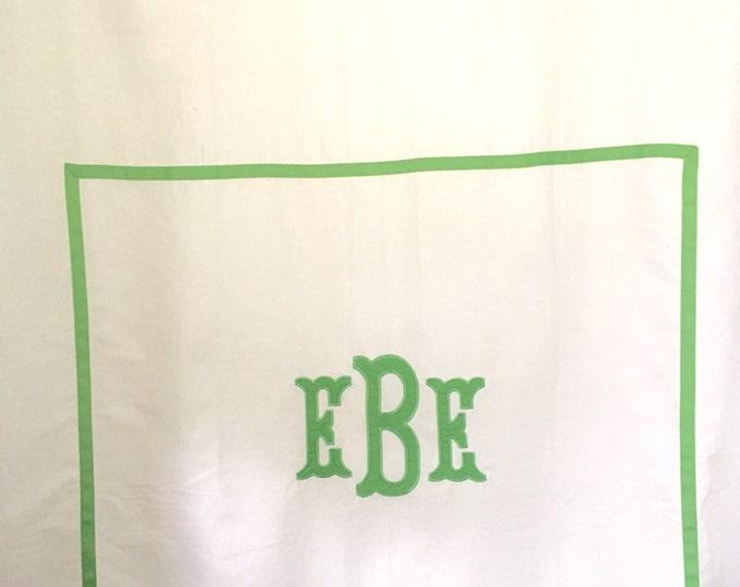 Featured listing image: Monogram Applique Shower Curtain / Bath Curtain