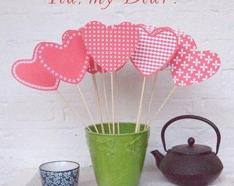 DIY Valentine hearts, paper hearts, Valentines crafts, printable Valentine gift, instant download