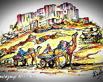 Camel caravans of Bikaner, Rajasthan