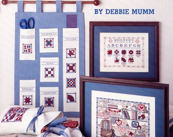 The Quilting Bee (cross stitch)  by Debbie Mumm - Leisure Arts leaflet 688 | Craft Book