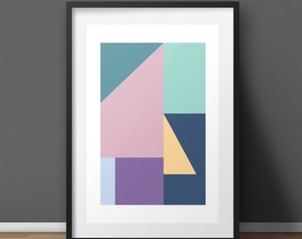 Home Decor Wall Art Prints Abstract Art Wall Decor Minimalist Poster Abstract Print Digital Print Modern Art Scandinavian Print Wall Prints