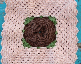 Peach and Brown Pot Holders