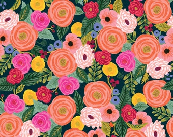 PRESALE: Juliet Rose (navy RAYON) from English Garden by Rifle Paper Co.