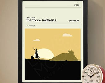 Star Wars Episode VII The Force Awakens Movie Poster, Movie Print, Film Poster, Film Print