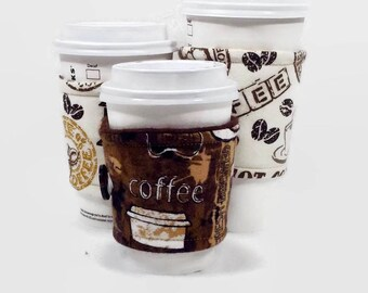 Cup cozy, coffee cozy, cup sleeve, cup cozy for her, coffee cup cozy, gift for her, reusable cup cozy,  cup holders, gift for him, coffee