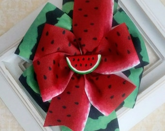 Watermelon - Large Pinwheel Bow