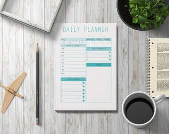 Daily Planner, Daily Planner Printable, Digital Planner Pages, Daily Planner 2018, Planner Pages A5, Printable Planner, Digital Planner 2018