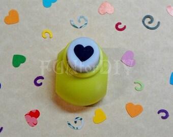 9x8mm - mini size paper punch -- heart