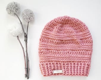 WOMENS 3braid | slouchy hat | featured in PINK