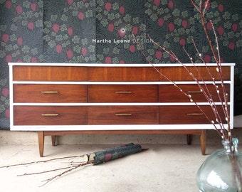 SAMPLE Mid Century Triple Dresser