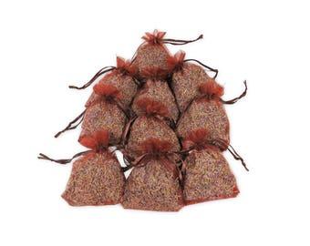 Lavender Sachets For Moth Repellent, 25PCS Baby Shower Favors Aromatic Potpourri Dried Purple Fragrance Lavender Sachet Gift Set - LS001-14