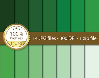 DIGITAL PAPER pack, shades of GREEN, scrapbook paper, instant download, high resolution