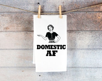 Funny Kitchen Towel for Housewife Christmas Decor or Funny Towel Holiday Gift, Kitchen Tea Towel Gift Ideas for Her Decor (Item - TDF500)