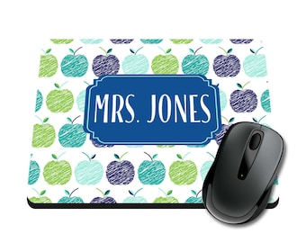 Apples Personalized Printed Mouse Pad / Office Accessories / Desk Accessories / Mousepad / Girly Mousepad / Teacher Mousepad