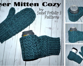 Beer Thirty Mitten Cozy - Crochet PATTERN
