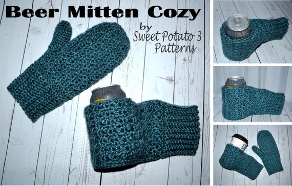 Beer Thirty Mitten Cozy Crochet Pattern