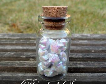 Bottled Origami Stars - Silver