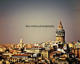 Galata Tower Istanbul, Turkey-Multiple Sizes-Travel Photography-Cityscape-Turkish-Architecture-Fine Art Photography-Gift