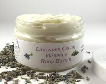 Lavender Cedar Body Butter | Birthday Gift | Mothers Day Gift | Whipped Shea Butter | Lavender Lotion | Just Because