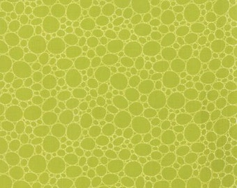 The Sweet Life Sappy Green Floral Pebbles Light Green > by Pat Sloan for Moda Fabrics < Half Yard off the Bolt