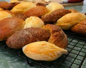 Tricolor Bread Braid Loaf