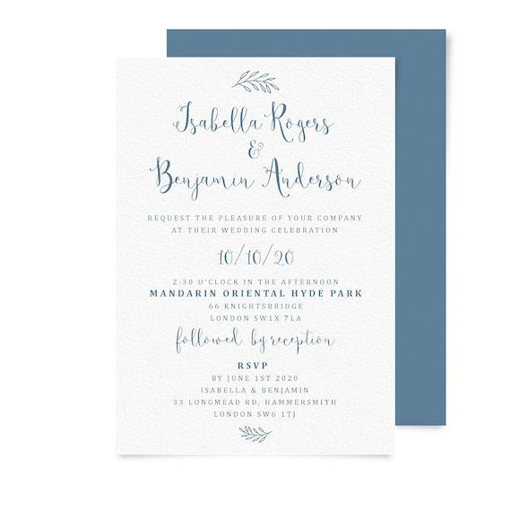 Blush and grey wedding invitations template, Printable wedding invitation simple, Calligraphy wedding invitation suite, Wedding invite PDF