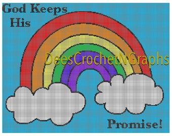God Keeps His Promise Crochet Graphghan Graph 250 x 193 Chart